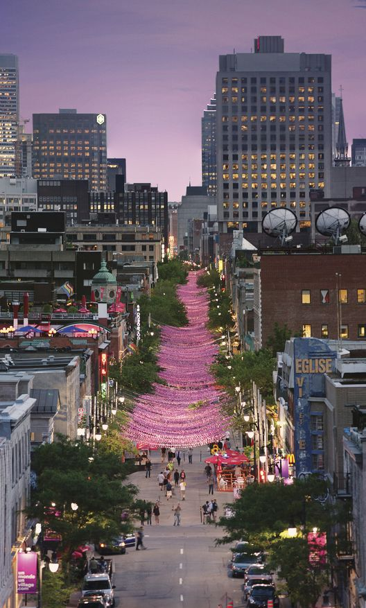 Beautiful Montreal, Quebec as night falls! (Magic time!) I can't wait to see this!!