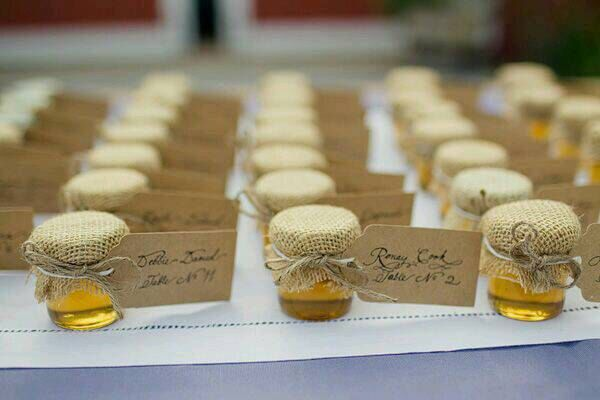 50 burlap and twine decorated syrup jars
