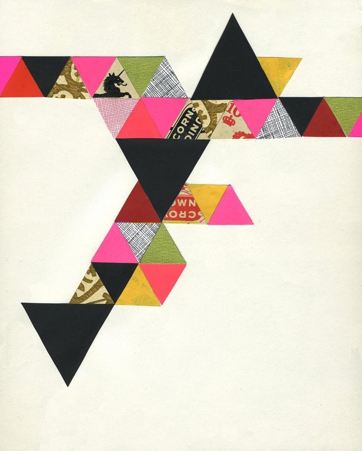 lisa congdon. so good.Art Illustrations, Inspiration, Lisacongdon, Lisa Congdon, Mixed Media, Art Pattern Wal, Trianglesl Congdon, Congdon Art, Illustration Triangles