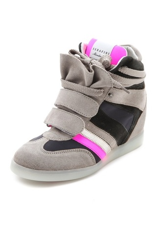 Wedge sneakers for the win!