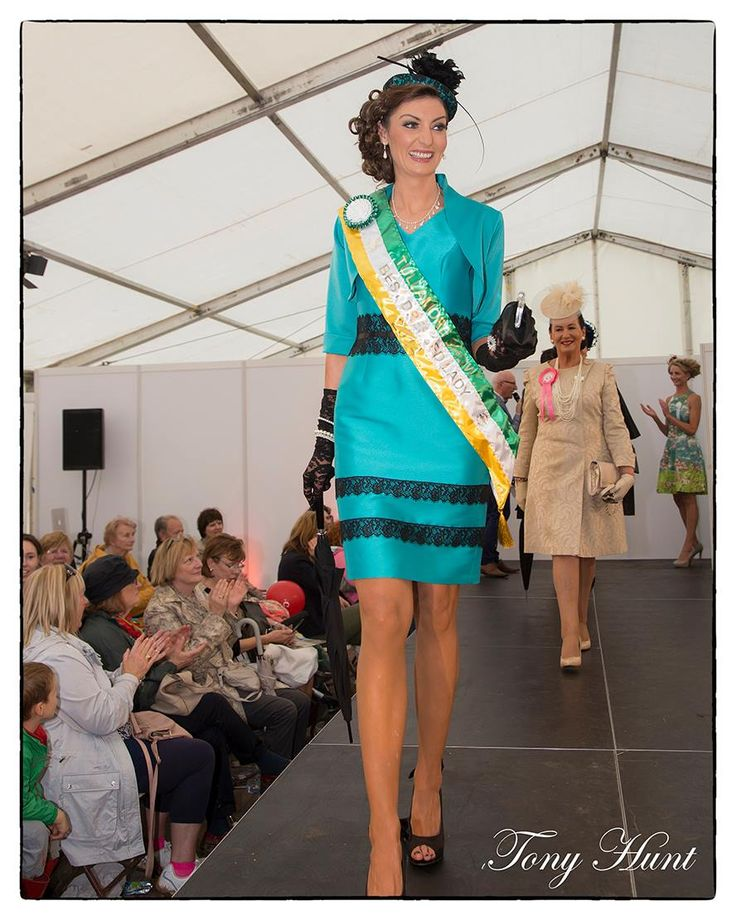 Rachel Heeney won Best Dressed Lady at Tullamore Show (Ireland) wearing a hat by JHK Millinery and dress from Redlane Boutique.
