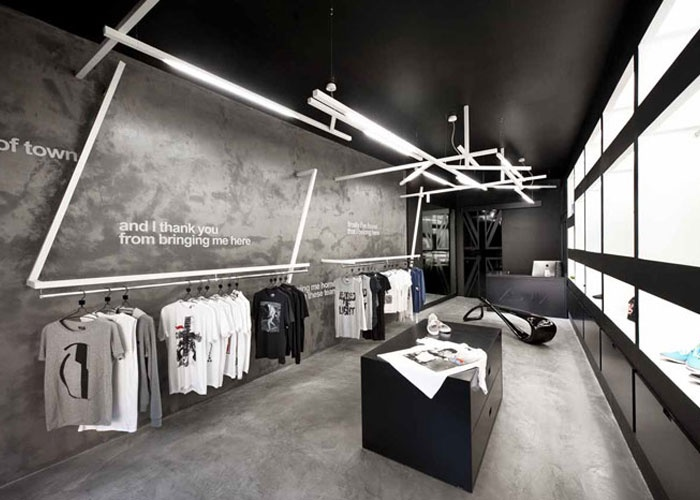 Concrete apparel store interior retail interior design - Interior design for retail stores ...