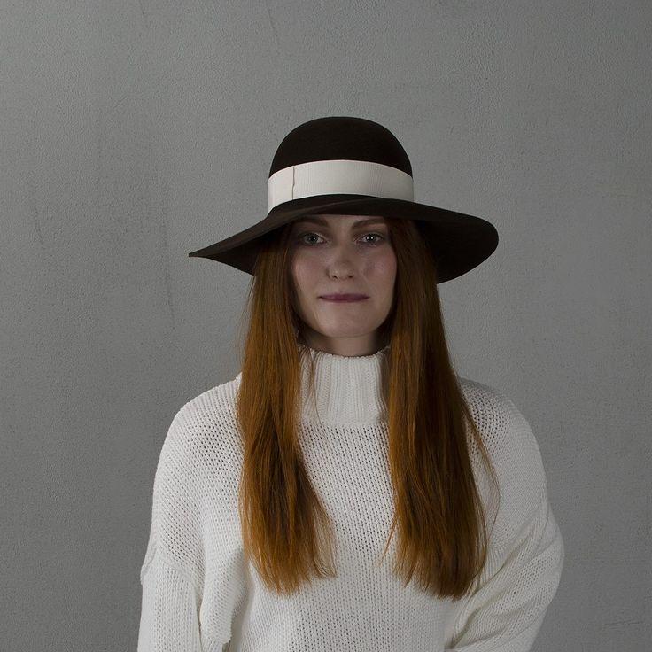 Chocolate wide-brim floppy hat / Широкополая шляпа флоппи шоколадного цвета fotralehats.com фото photo hats lookbook
