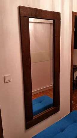 Designerskie, nowoczesne lustro w drewnianej ramie Poznań - image 1