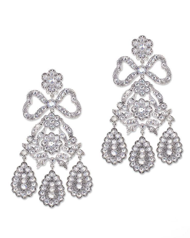Kenneth Jay Lane Silver Crystal Baguette Earrings Silver/crystal KkksezoI