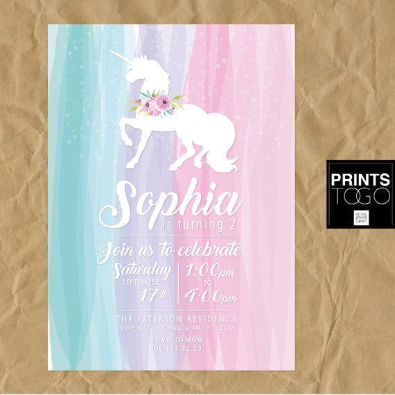 best 25+ unicorn invitations ideas on pinterest | unicorn birthday, Birthday invitations