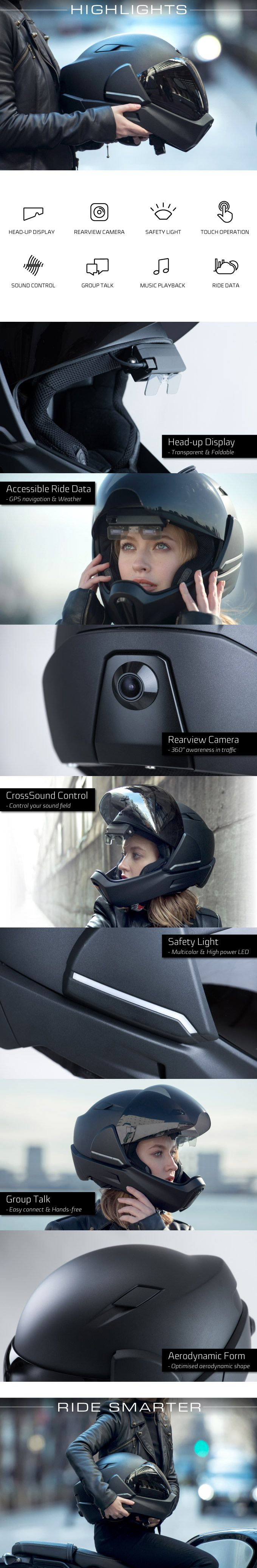 CrossHelmet Smart Motorcycle Helmet