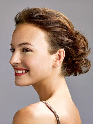 Pin-Up Girl  This chic style is surprisingly easy to do: Haphazardly pin up sections of your hair at the very middle of the back of your head. Like most updos, this will work best on slightly dirty, day-old curls.