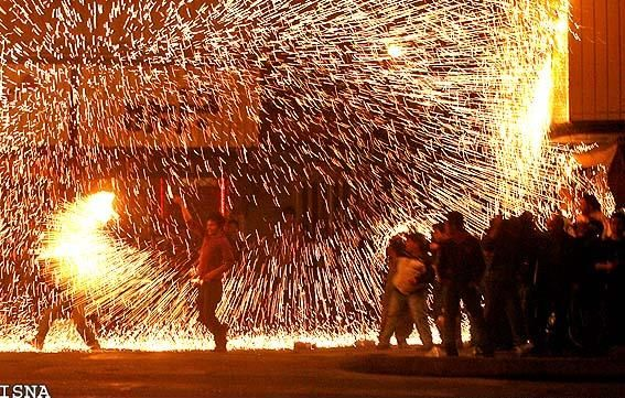 Chaharshanbe Suri, is a fire jumping festival, celebrated in IRAN. Literally, it means Wednesday Feast, from the word sur which means feast in Persian,or more plausibly, consider sur to be a variant of sorkh (red) and take it to refer either to the fire itself or to the ruddiness (sorkhi), meaning good health or ripeness, supposedly obtained by jumping over it, is an ancient Iranian festival dating back to at least 1700 BCE of the early Zoroastrian era Zoroastrians.IRAN
