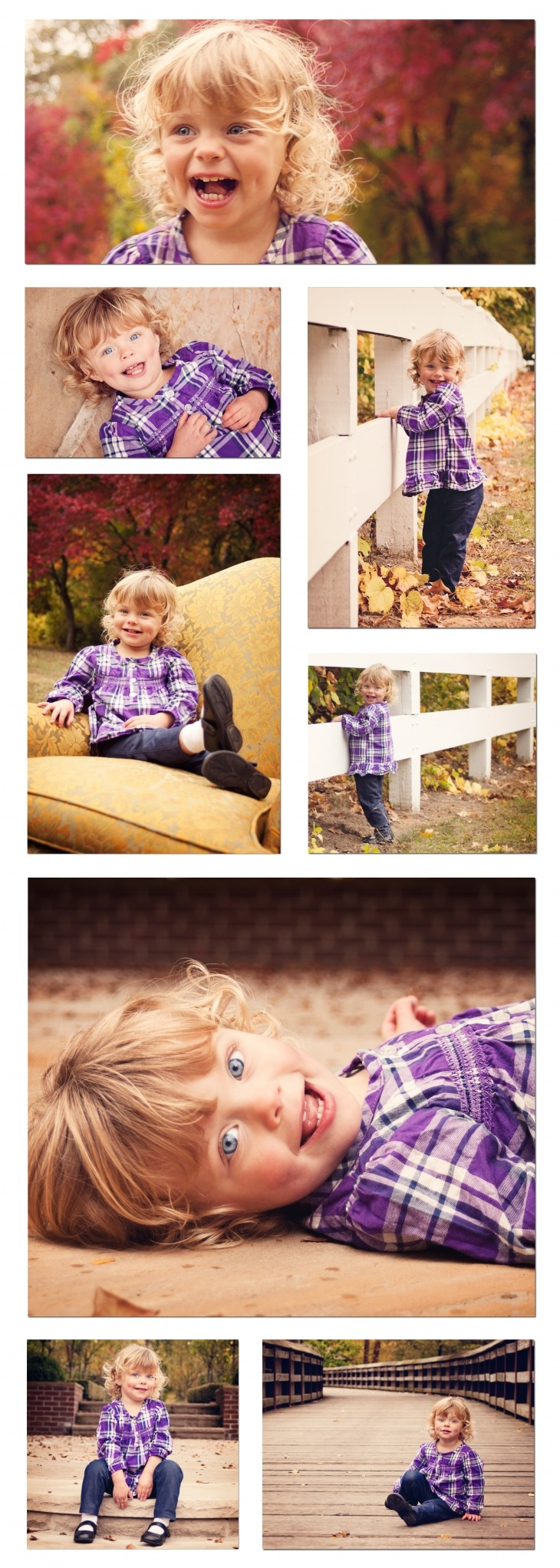 2 year old's pictures at the park... haha like Nadia would pose like this.