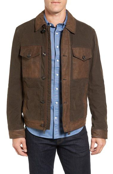 TIMBERLAND Mount Davis Mixed Media Waxed Cotton Jacket. #timberland #cloth #