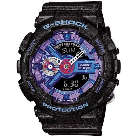nice G-Shock - S Series - Auto-LED - Black/Purple/Blue - GMAS110HC-1 - For Sale Check more at http://shipperscentral.com/wp/product/g-shock-s-series-auto-led-blackpurpleblue-gmas110hc-1-for-sale/