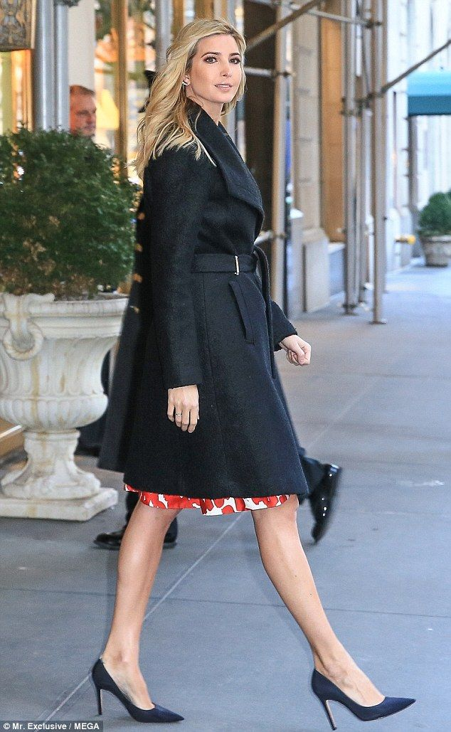 Dressed to the nines: Ivanka Trump looked stunning as she kicked off her work week on Monday morning