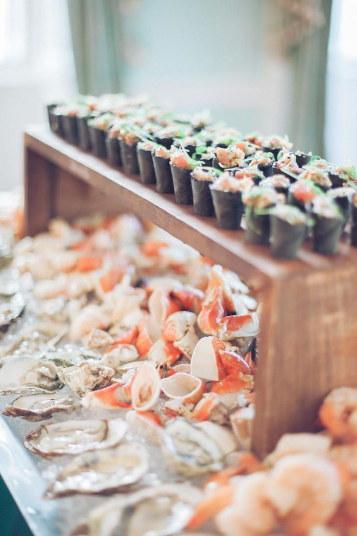 Caviar and raw bar for the cocktail