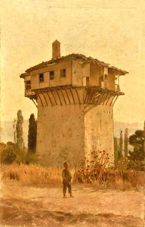 Πολυχρόνης Λεμπέσης. Πύργος στο Πήλιο