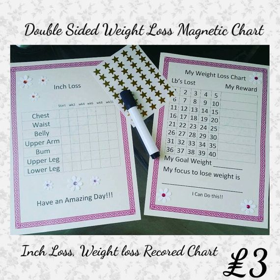 Weigh Loss Chart with Meal Planner PRINTABLE by MyMagicMail
