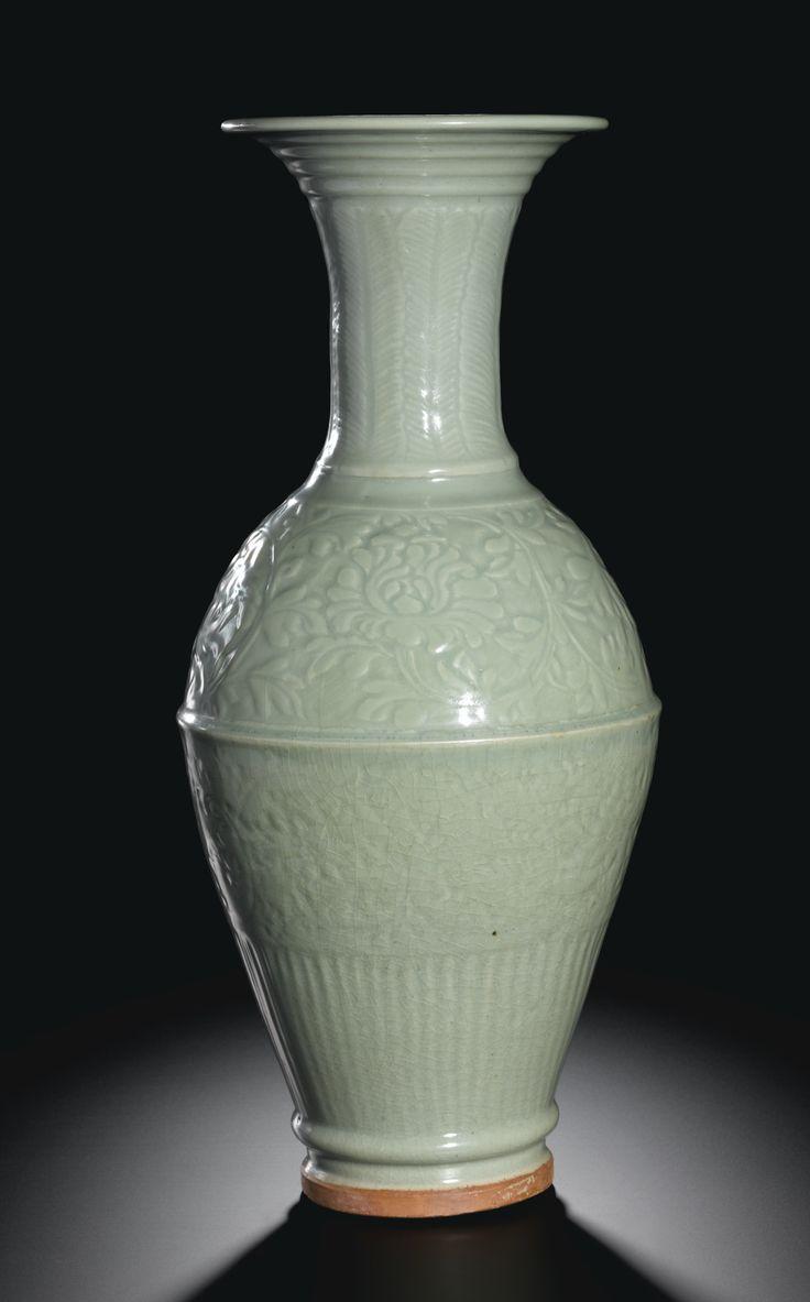 A Massive Longquan Celadon Vase Yuan Dynasty Http Www Sothebys Com En Auctions Ecatalogue 2012