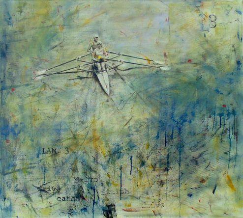 lane 3 oil on canvas