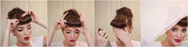 The Freckled Fox : Modern Pin-up Week: #4 - Easy Faux Bangs