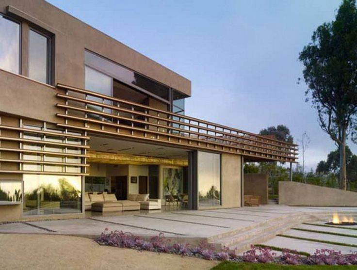 Contemporary Landscape Architecture | ... Architecture And Contemporary  Homes Modern Style With Cool White