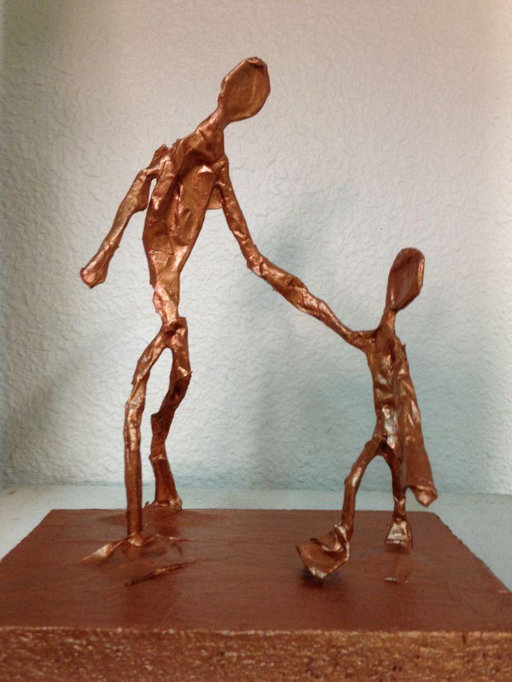 A la manière de Giacometti - Charivari à l'école