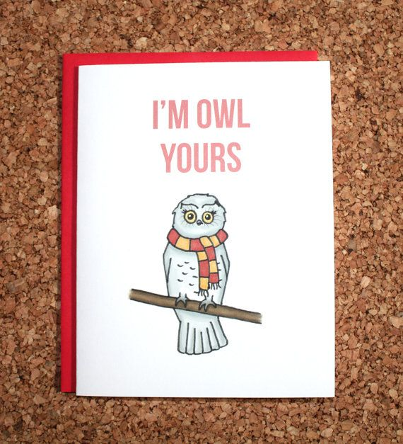 Hey, I found this really awesome Etsy listing at https://www.etsy.com/listing/199158158/harry-potter-card-im-owl-yours-hedwig