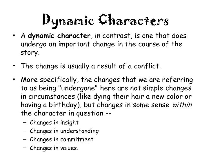 This image shows a good definition of a dynamic character