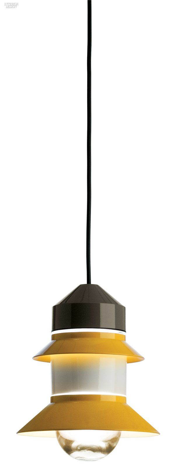 Sputnik Estudio's Santorini pendant in blown glass and polycarbonate with energy-saving fluorescent or LED bulb by Marset.