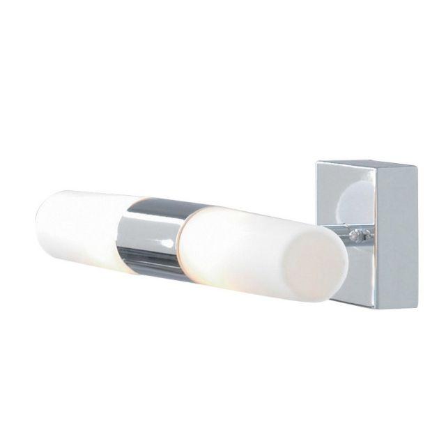 Bathroom - nástenné svietidlo - chróm+opálové sklo