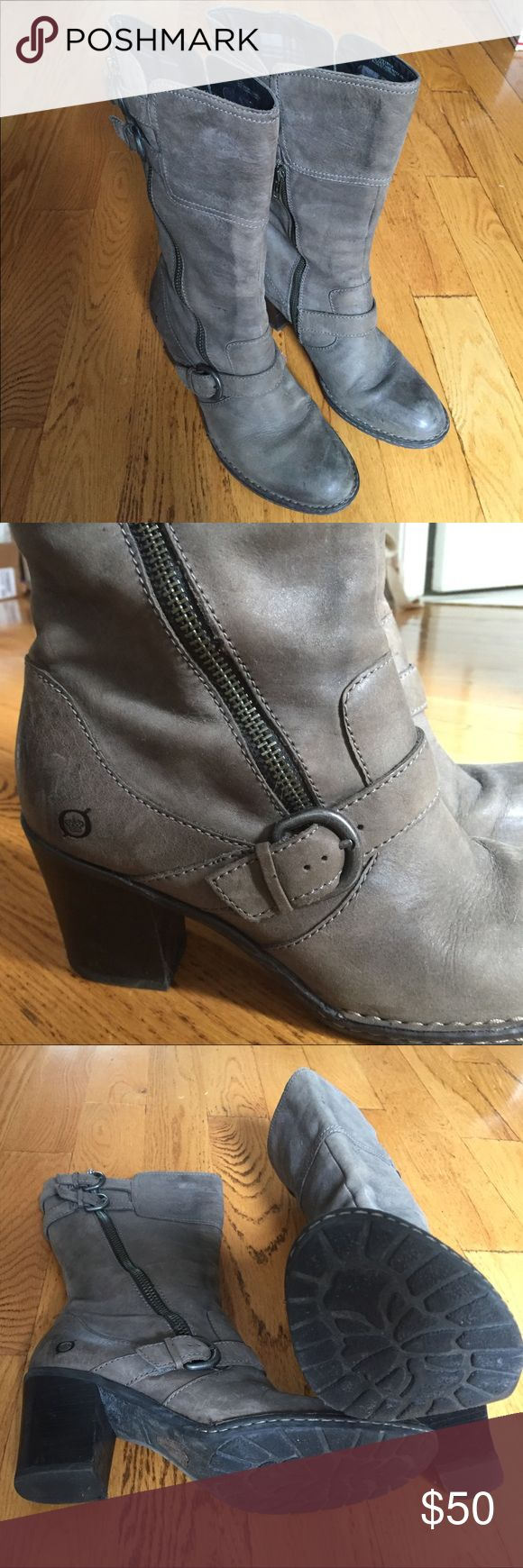 Born boots Grey size 10 Born boots. lightly used, still in very good condition. I loved these boots but since pregnancy my foot is too big for them. Born Shoes Heeled Boots