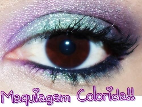 Maquiagem Colorida para o Carnaval!!   Pensa se eu fosse rica!