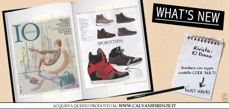 Per rimanere al passo con i trend delle capitali della moda, scegli il modello Cool Multi di Ash! La sneaker con zeppa dalla punta rotonda e super sporty! #ashitalia
