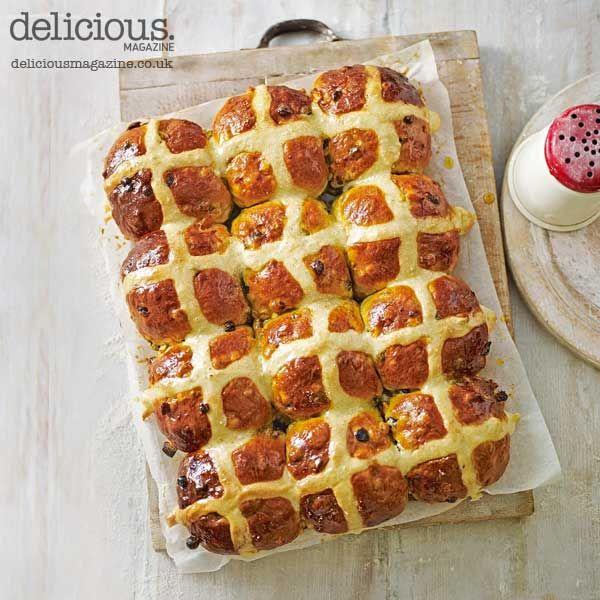 Golden saffron hot cross buns recipe
