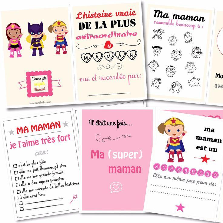 Free printable : Cahier fête des mères by Moma le Blog