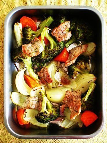 豚ヒレ肉と野菜のオーブン焼き by いちごを煮つめる甘い香りさん ...