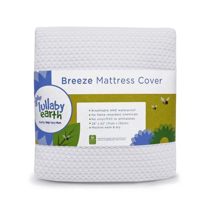 lullaby earth breeze crib mattress replacement cover white http