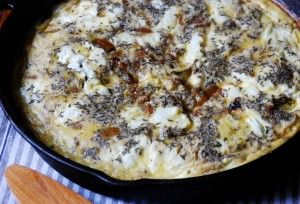 Caramelized Onion & Goat Cheese Frittata | simple balance
