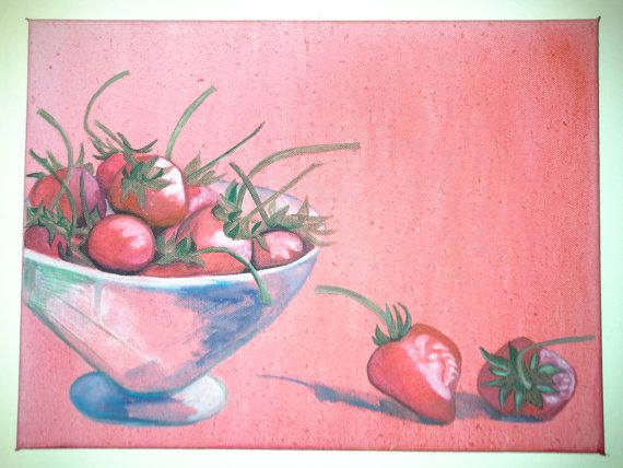 Check out this item in my Etsy shop https://www.etsy.com/uk/listing/116747799/strawberries-art-oryginal-art-oryginal