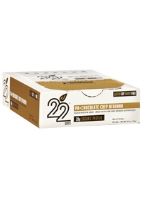PB + Chocolate Chip Nirvana by 22 Days Nutrition Bars. #Cleaningredients #protein