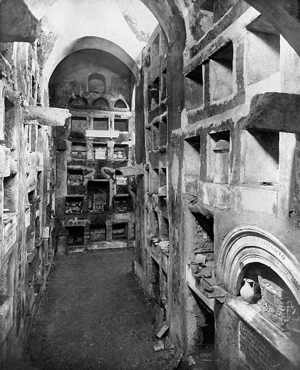 Ancient Roman Catacombs... As property of the Catholic Church no one can explore the catacombs that can date back as far as the 1st century, without the permission from the Vatican.