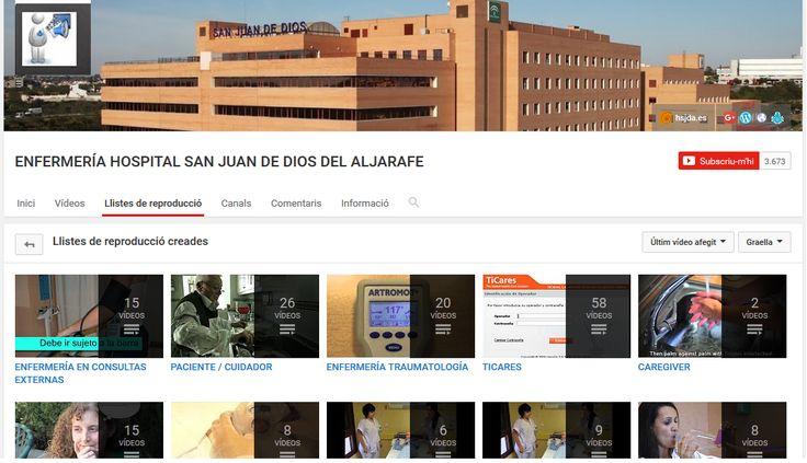 Listas de videos del canal en Youtube de Enfermería Hospital san Juan de Dios del Aljarafe