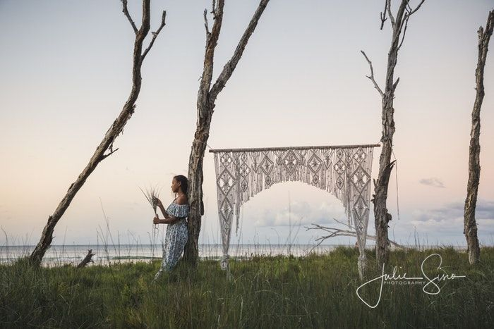 Handmade macrame arch perfect for a dream island wedding! - Our photoshoot with Reh from Crafted by Powers and her handmade macrame wedding arch - a unique one-off piece created for Stradbroke Island Events for...