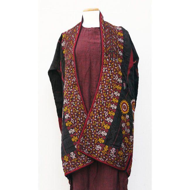 Vintage Turkmen Chyrpy, Tekke False Sleeve Mantle, Turkman, Turkoman Robe from Afghan Tribal Arts /// TAFA Market Handmade Garment Collection: http://www.tafaforum.com/market/tafa-market-handmadegarments/