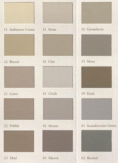 Colour palette. Painting the Past, NL. Kleuren te mengen in verschillende soorten verf bij Deco Home Bos in Boxmeer. www.decohomebos.nl