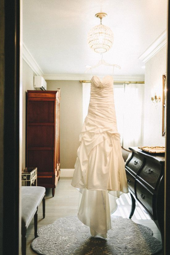 Casablanca Wedding Dress for a Shabby chic wedding with blush and champagne colours Photographed by: laurenscotti.com | read full #wedding on fabmood.com: