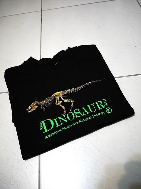 [give]dinosaur tee。購自紐約自然史博物館,穿過一兩次,下過水,但是因為自覺穿起來太宅了,所以沒再穿過(可是我真的很喜歡恐龍啊~~)。尺寸標示是兒童14-16(L)。適合一般T穿S的人。