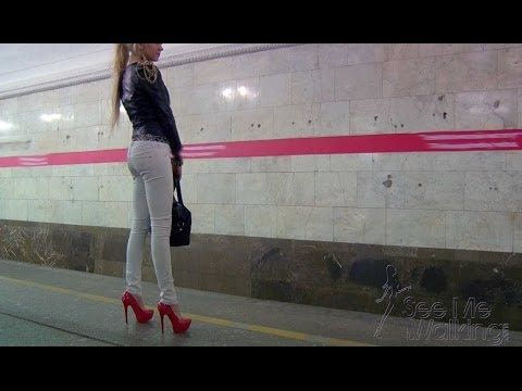 how to walk in high heels video