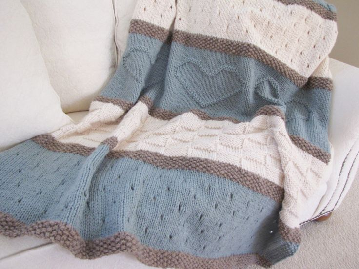 Knit Blanket Pattern - pinned by pin4etsy.com