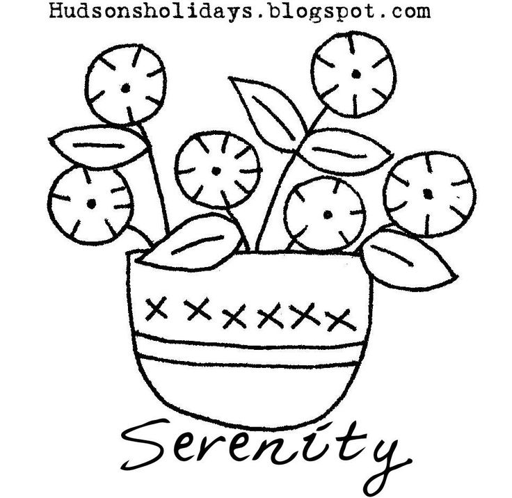 Hudson's Holidays - Shirley Hudson: Serenity - freebie friday stitchery design pattern