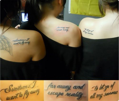 Shoulder Tattoo Quotes: Best 25+ Sister Quote Tattoos Ideas On Pinterest